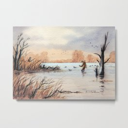 Setting The Decoys I Metal Print