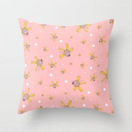 Cynthia Pickles Doll Pattern Throw Pillow