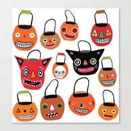 Trick Or Treat Halloween Canvas Print