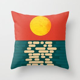 Sun Over The Sea - Afternoon Throw Pillow