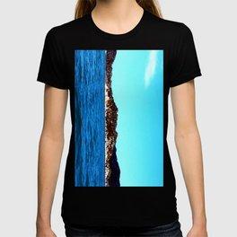 blue sea and green nature T-shirt