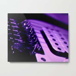 Guitar in Purple fine art photography Metal Print