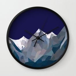 Geo Mountain Range (Part 5) Wall Clock