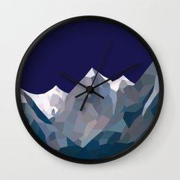 Geo Mountain Range (Part 5) Wall Clock