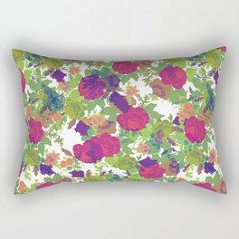 Retro Flowers Rectangular Pillow