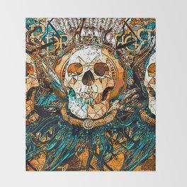 Old Skull Throw Blanket