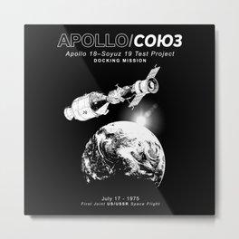 Apollo 18 Soyuz 19 docking mission Emblem-USA-USSR-1975-Space-Astronomy-Science Metal Print
