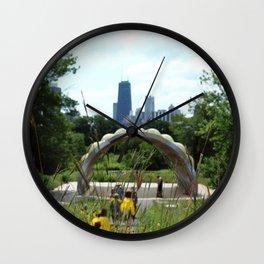 Garden View II Wall Clock