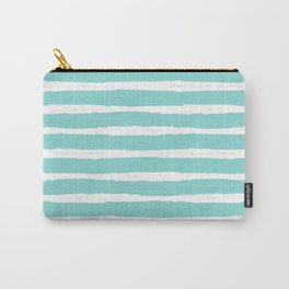 Sea Wave Stripe Carry-All Pouch