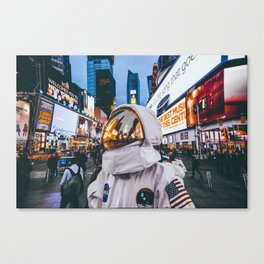 Space At Times Square Canvas Print