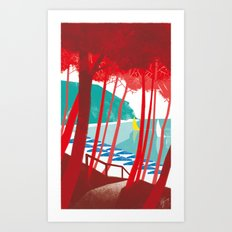 Illustre Conero - San Michele's Beach Art Print