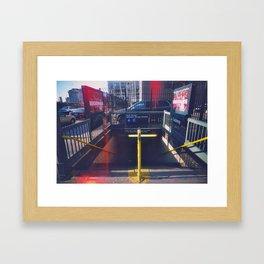 A train Framed Art Print