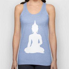 Grey and White Buddha Unisex Tank Top