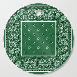 Classic Green Bandana Cutting Board