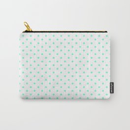 Dots (Aquamarine/White) Carry-All Pouch