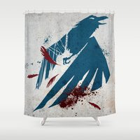 infamous Shower Curtains featuring inFamous Second Son Good Karma by Kyrsten Carlson