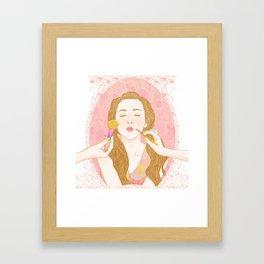 Lips Like Sugar Framed Art Print