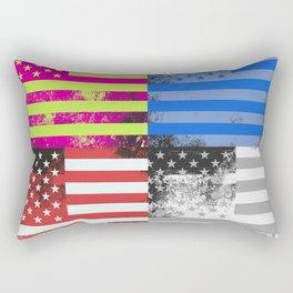 American Flag Pop Art Rectangular Pillow