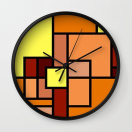 The Colors of / Mondrian Series - Lion King  Wall Clock