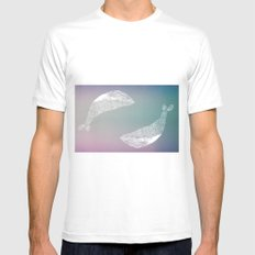 fogged film whale Mens Fitted Tee White MEDIUM