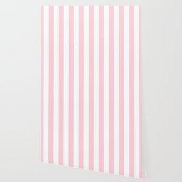 Light Soft Pastel Pink Beach Hut Stripes Wallpaper