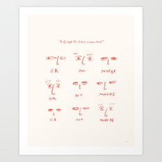 A Guide To Face Language Art Print