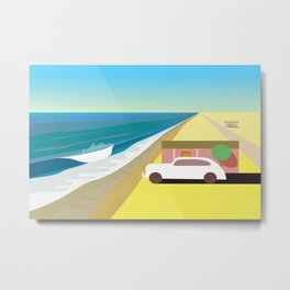 Alone at Bungalow Beach Metal Print