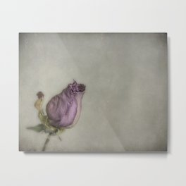 Single Dry Rose Metal Print