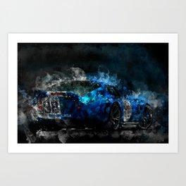 Shelby Daytona Coupe at Night Art Print