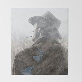 Mountain's Cowboy by GEN Z Throw Blanket