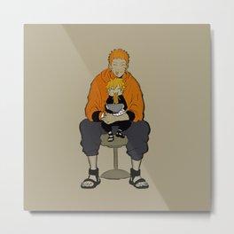 Naruto Boruto love ramen Metal Print
