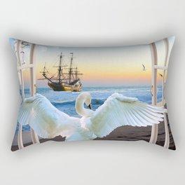 In the sunset beach c Rectangular Pillow