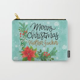 Pretty Sweary Holidays: Merry Christmas Mf'er Carry-All Pouch
