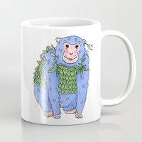 Peachtree The Chimp in Blue Mug