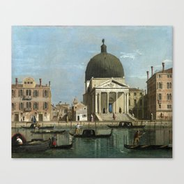 Venice: S. Simeone Piccolo by Follower of Canaletto Canvas Print
