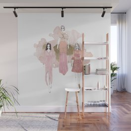 Pink and Gold Wall Mural