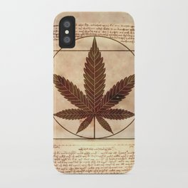 vitruvian marijuana iPhone Case