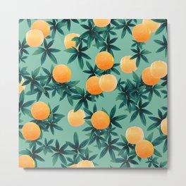 Orange Twist Vibes #1 #tropical #fruit #decor #art #society6 Metal Print