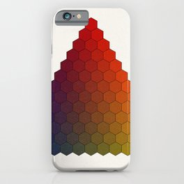Lichtenberg-Mayer Colour Triangle variation, Remake using Mayers original idea of 12+1 chambers iPhone Case