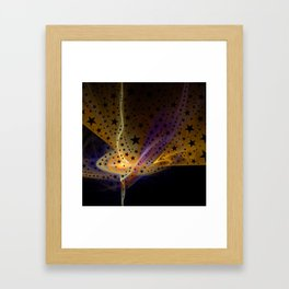 Ethereal Flame with Stars Framed Art Print