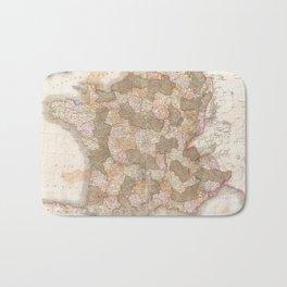 Vintage Map of France (1818) Bath Mat