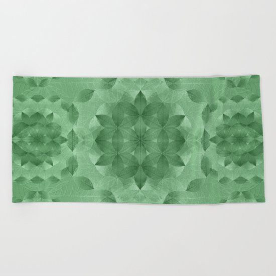 The Flower of Life - Leaf Pattern 3 Beach Towel