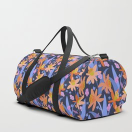 Daffodil Days in Navy Duffle Bag