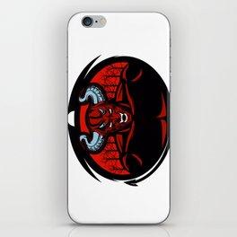 Red devil illustration iPhone Skin