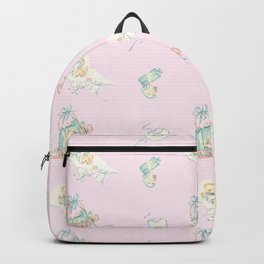 Vintage Baby Room Repeat in Light Pink Backpack