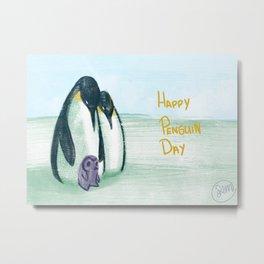 Penguin Day Metal Print