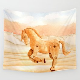Wooden Horse Wall Tapestry