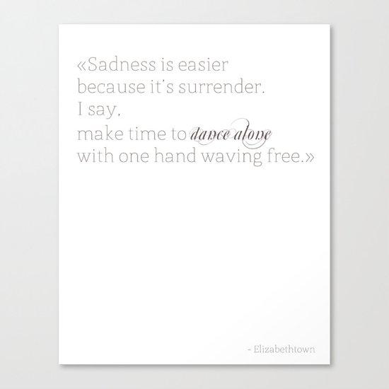 Elizabethtown Quote Canvas Print