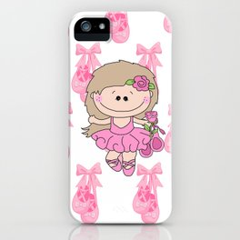 Little Ballerina in Pink iPhone Case