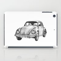 volkswagen iPad Cases featuring Beetle Volkswagen by Michal Gorelick
